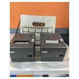 2 Epson TM-T88IV receipt printer