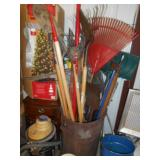 ASSORTED YARD AND GARDEN TOOLS