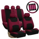 NB FH Group FB030BURGUNDY-COMBO Seat Cover Combo S