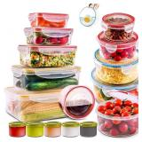 28 PCs Large Food Storage Containers with Airtight