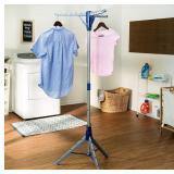 NIDB Honey-Can-Do Tripod Clothes Drying Rack, Blue