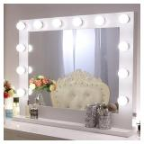 Chende Large Vanity Mirror with Light, 31.5 x 25.6