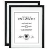 NIDB Umbra Document Frame (2-Pack)- 11x14 Picture