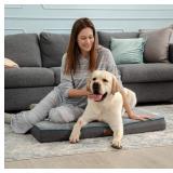 Bedsure Orthopedic Dog Bed Large - Memory Foam Wat