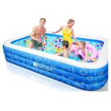 "NIDB Family Inflatable Swimming Pool, Semai 118""x"