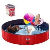 NIDB V-HANVER Foldable Dog Pool Collapsible Heavy