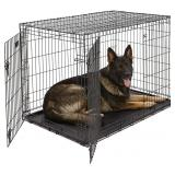 XL Dog Crate MidWest iCrate Double Door Folding Me