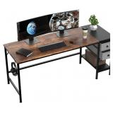 63 inch Office Desk with Two Non Woven Drawers, Co