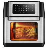 NIDB CROWNFUL 9-in-1 Air Fryer Toaster Oven, Conve