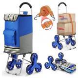 NIDB Folding Shopping Cart, Loading Stair Climber