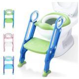 NIDB Potty Training Toilet Seat with Step Stool La
