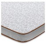 Used BedStory Gel Memory Foam Mattress Topper, 2 I
