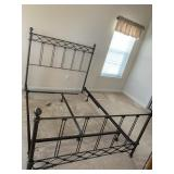 Queen Size Iron H/B & F/B with Rails