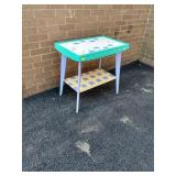 """Paint Decorated Table 23.5""""Hx25""""Wx15""""D"""
