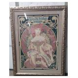 """Mucha Decorated Poster Image 32""""x43"""""""