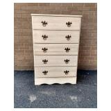 """Painted 5 Drawer """"Master Craft"""" Chest"""