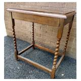 """Twisted Leg Table, finish issue 26""""Hx23""""Wx17""""D"""