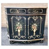 Floral Decorated Hall Table, scratches & Dings