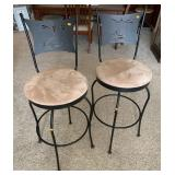 Pair of lighthouse barstools