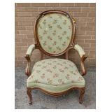Victorian armchair w/ needlepoint