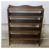 Brown painted book case