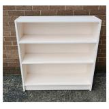 White painted book case