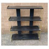 Retro metal book shelf