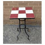 Tile top plant stand