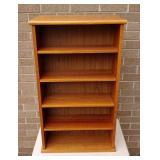 Teak double sided shelf