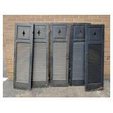5 pierced shutters