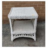 Wicker patio table