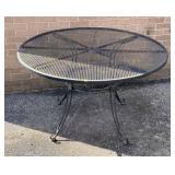 Wrought iron patio table