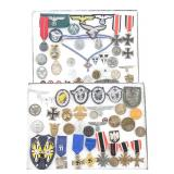 WWII German Third Reich, Pins, Medals, Ribbons