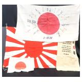 Four Japanese WWII Flags
