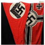 Two WWII German Third Reich Flags