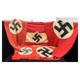 Five Third Reich WWII German Flags