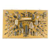 Mounted Arrowhead & Artifact Collection