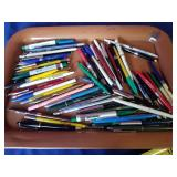 tray lot of advertising  ink pens