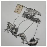 Statesmetal Dolphin Windchimes by Carson