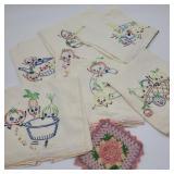 Vintage Fruit & Vegetable Embroidery
