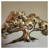 Large Vintage Metal Tree Art
