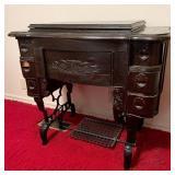 Antique White Treadle Sewing Machine FR 410840
