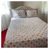 Serta Perfect Sleeper Full Bed w/Quilt & Matching