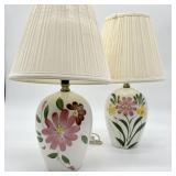 2 Vintage Ceramic Lamps