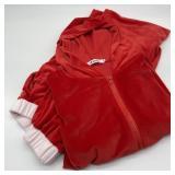 Vintage Velour Ladies Jogging Suit, Bright Pink