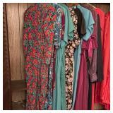 Ladies long Dresses w/ church & Graduation Robes