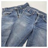 """2 Vintage Levi Jeans, 30"""" Inseam"""