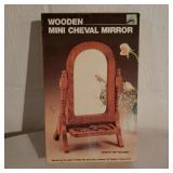 Wooden Cheval Mirror in Box