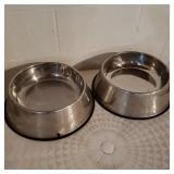 Large Dog Food and Water Bowls