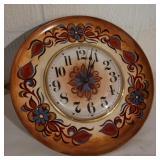 Vintage Floral Plate Clock